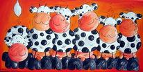 Rind, Kuh, Milchkuh, Malerei