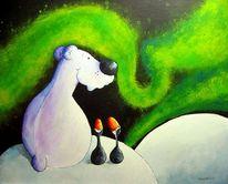 Polarnacht, Pinguin, Eisbär, Norden