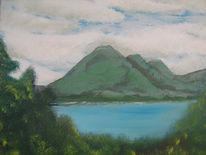 Wald, Wasser, Berge, Landschaft