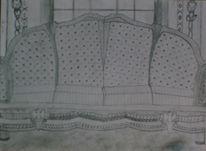 Sofa, Holz, Zeichnungen