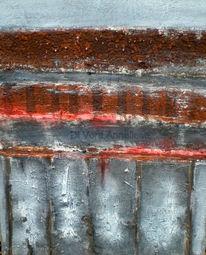 Roter sand, Acrylmalerei, Grau, Weiß