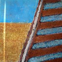 Holz, Blau, Meer, Roter sand