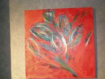 Malerei, Blumen, Tulpen,