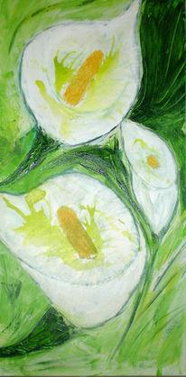 Weiß, Acrylmalerei, Calla, Blumen