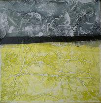 Acrylmalerei, Di vora anneliese, Collage, Ginster