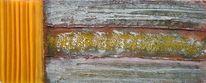 Lasurtechnik, Mischtechnik, Acrylmalerei, Gelb