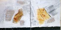 Mischtechnik, Kohlezeichnung, Koku 2012, Diptychon