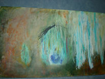 Acrylmalerei, Landschaft, Spachtel, Eiszapfen
