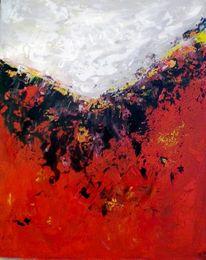 Hitze, Glückwunschkarte, Rot schwarz, Feuerberge