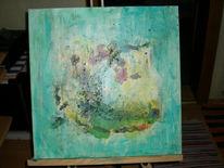 Erde, Mischtechnik, Acrylmalerei, Moor