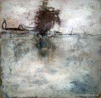 Moor, Glückwunschkarte, Landschaft, Sand