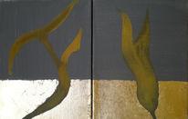 Acrylmalerei, Schlagmettall, Di vora anneliese, Rost