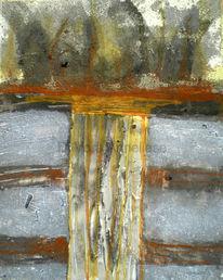 Gelb, Abstrakt, Struktur, Weiß