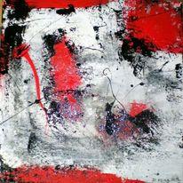 Rot schwarz, Weiß, Farben, Gusskarte