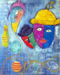 Spiel, Bunt, Ball, Ölmalerei