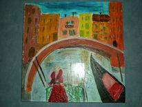 Malerei, Venedig, Collage,