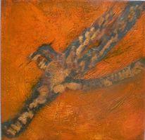 Temperamalerei, Struktur, Di vora anneliese, Tusche