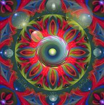 Digitale kunst, Mandala, Pilze, Malerei