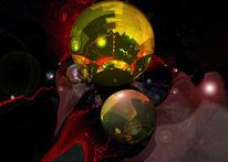 Universum, Digitale malerei, Energie, Digitale kunst
