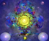 Farben, Blau, Mygall, Digitale malerei