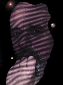 Digitale malerei, Portrait, Selbstportrait, Digitale kunst