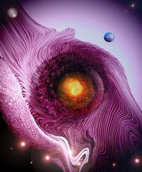Digitalpainting, Erde, Kosmos, Planet