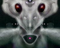 Alien, Universum, Digitale kunst,