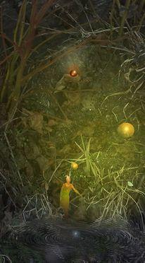 Nacht, Mystik, Digitale malerei, Venus