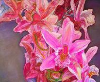 Bunt, Ölmalerei, Malerei, Rosa