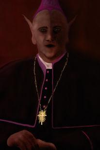 Dunkel, Farben, Priester, Kirche