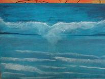 Acrylmalerei, Malerei, Meerblick