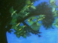 Grün, Vogelschwarm, Vogel, Afrika