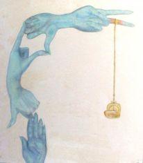Hände, Gold, Objektstudie, Surreal