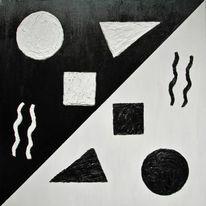 Formen, Quadrat, Abstrakt, Gegensätzlich