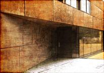 Corten, Stahl, Architektur, Digitale kunst