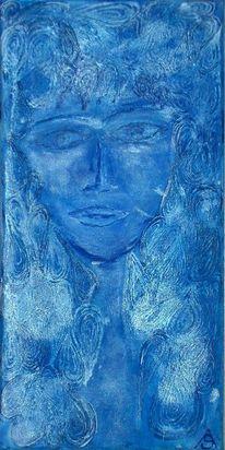 Struktur, Blau, Tränen, Relief
