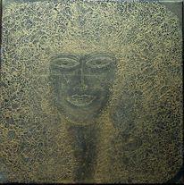 Kopf, Gold, Portrait, Frauenportrait