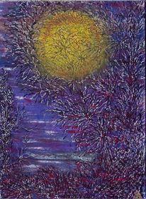 Mond, Struktur, Mondlicht, Nacht