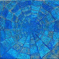 Blau, Spinne, Relief, Netz