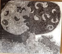 Gegensatz, Schwarz weiß, Baum, Skulptur