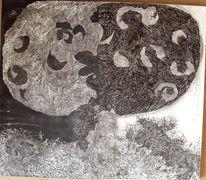 Skulptur, Baum, Relief, Abstrakt