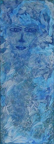 Tränen, Frauenportrait, Abstrakt, Prinzessin