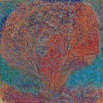 Baum, Vielfärbig, Struktur, Bunt
