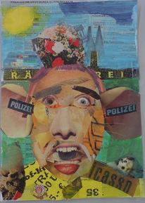 Kritik, Menschen, Collage, Polizei
