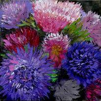 Blumenstrauß, Blumen, Astern, Malerei