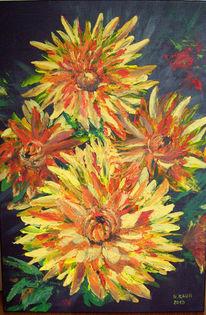 Sommer, Astern, Blumen, Malerei