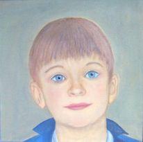 Junge, Kind, Portrait, Malerei
