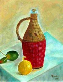 Tisch, Griechenland, Rotwein, Obst