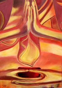 Buddha, Erkenntnis, Hände, Meditation