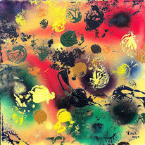 Farben, Fantasie, Abstrakt, Malerei